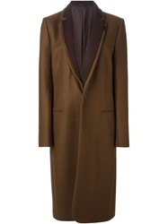 A.F.Vandevorst '152 Montevideo' Layered Lapel Coat Brown