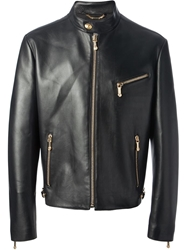 Versace Classic Leather Jacket Black