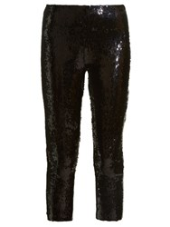 Isabel Marant Izard Sequinned Cropped Trousers Black