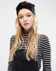 Asos Rib Turban Hat Black