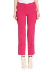 Derek Lam Solid Cropped Pants Fuchsia
