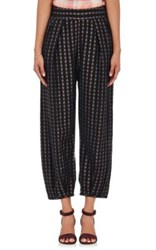 Ace And Jig Women's Casbah Mixed Striped Gauze Pants Black