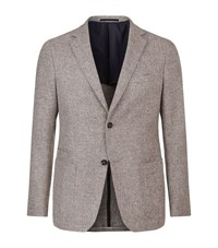 Z Zegna Drop 8 Lightweight Wool Jacket Male Light Grey