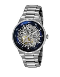 Kenneth Cole Men's Stainless Steel Watch With Skeleton Dial Silver