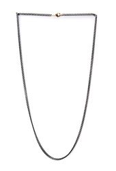 Forever 21 Micro Curb Chain Necklace Black Gold