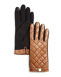 Lauren Ralph Lauren Quilted Tech Gloves Saddle