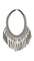 Raga Statement Bib Necklace Silver