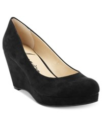 American Rag Kenna Platform Wedge Pumps Only At Macy's Women's Shoes Black