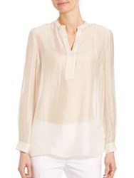 Lafayette 148 New York Sheer Tunic Candle Light