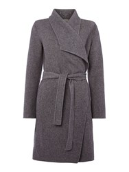 Part Two Timeless Belted Wool Coat Grey