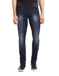 Kenneth Cole Experiential Knit Skinny Jeans Dark Indigo
