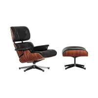 Tall Eames Lounge Chair And Ottoman Black Leather Santos Palisander Frame The Conran Shop