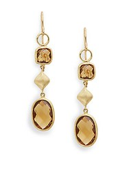 Jude Frances Station Drop Earrings Gold