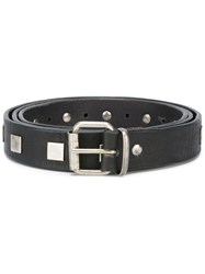 Massimo Alba Studded Belt Black