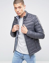 Esprit Quilted Jacket Grey Navy