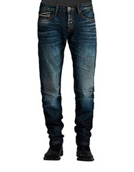 Cult Of Individuality Greaser Straight Aston Wash Jeans Blue