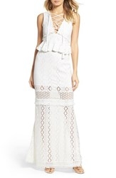 Foxiedox Women's Aria Lace Up Crochet Gown