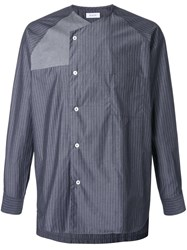 En Route Double Front Collarless Shirt Grey
