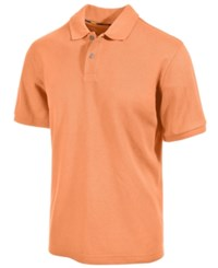 Club Room Short Sleeve Solid Estate Performance Sun Protection Polo Soft Apricot