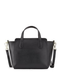 Neiman Marcus Callie Leather Wing Crossbody Bag Black