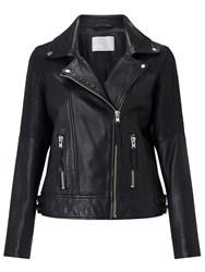 Minimum Karitas Leather Biker Jacket Black