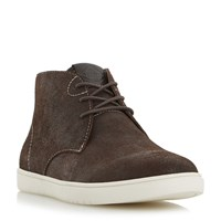 Dune Shoreditch High Top Lace Up Trainers Brown