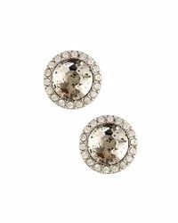 Lydell Nyc Speckled Glass And Pave Crystal Stud Earrings