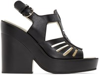 Jil Sander Black Leather Fisherman Sandals