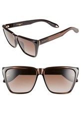 Women's Givenchy 58Mm Sunglasses Black White Mirror