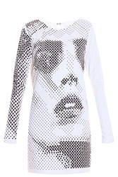 Anthony Vaccarello Anja Studs Dress White