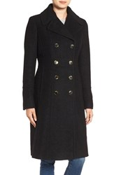 Guess Women's Fit And Flare Military Coat Black