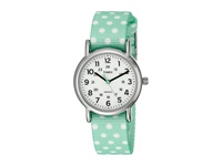 Timex Weekender Reversible Nylon Strap Watch Mint Green Silver Tone White Watches