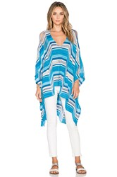 Goddis Waverly Poncho Dress Blue