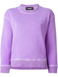 Dsquared2 Cropped Sweatshirt Pink And Purple