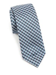 Saks Fifth Avenue Gingham Silk Tie