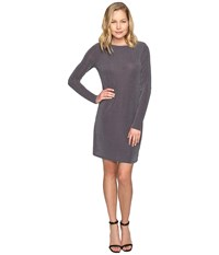 Michael Michael Kors Metal Dot Long Sleeve Boat Neck Dress Derby Women's Dress Black