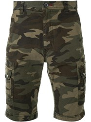 Loveless Camouflage Print Shorts Green