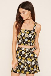 Forever 21 Buttoned Floral Mini Skirt