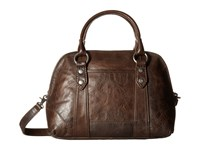 Frye Melissa Domed Satchel Slate Satchel Handbags Metallic