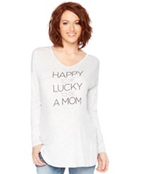 Motherhood Maternity Long Sleeve Graphic Tee