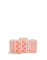 Franchi Dory Faux Leather Minaudiere Coral