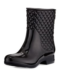 Ccilu Equestrian Drift Quilted Short Rain Boot Black