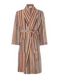 Paul Smith Multistripe Terry Robe Multi Coloured