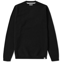 Norse Projects Sigfred Solid Lambswool Knit Black