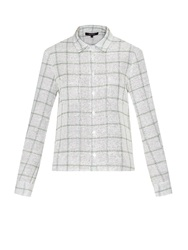 Wes Gordon Camp Checked Tweed Shirt