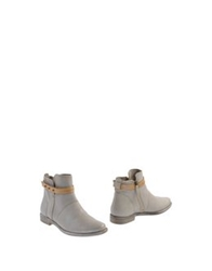 Manas Ankle Boots Light Grey