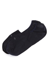 Pantherella 'Footlet' No Show Egyptian Cotton Blend Socks Navy