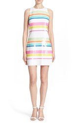 Women's Kate Spade New York Stripe Sequin Sheath Dress White Multi