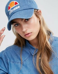 Ellesse Baseball Cap In Washed Blue Blue