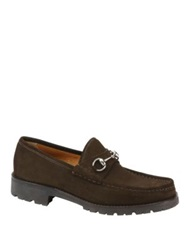 Gucci Suede Loafers Black Brown
